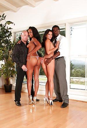 Ebony Group Sex